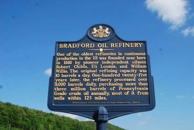 Bradford Oil Refinery Marker image. Click for full size.