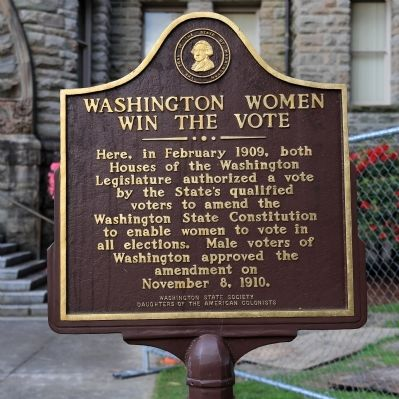 Washington Women Win the Vote Marker image. Click for full size.