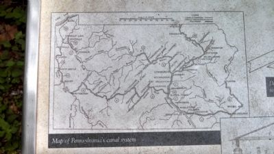 Map of Pennsylvania Canal System image. Click for full size.