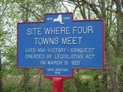 Site Where Four Towns Meet Marker image. Click for full size.