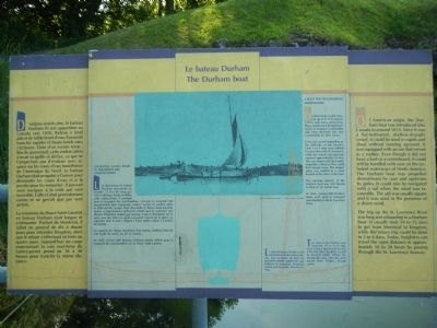 The Durham boat Marker image. Click for full size.