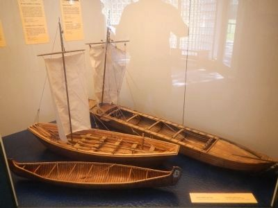 Models of boats used on the Coteau-du-Lac canal image. Click for full size.