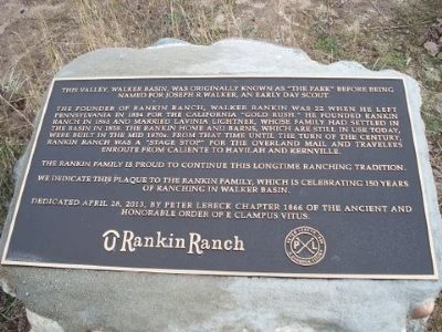 Rankin Ranch Marker image. Click for full size.