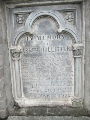 In Memory of Abner Hollister Marker image. Click for full size.