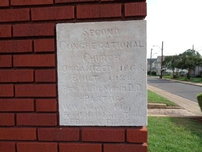Second Congregational Church Cornerstone image. Click for full size.