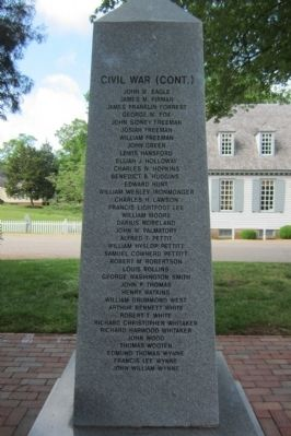 York County War Monument Marker (north face) image. Click for full size.