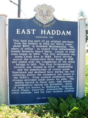 East Haddam Marker image. Click for full size.