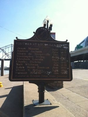 Visitors at Louisville Wharf Marker image. Click for full size.