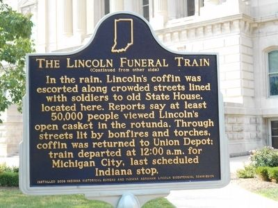 The Lincoln Funeral Train Marker image. Click for full size.