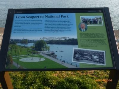 From Seaport to National Park Marker image. Click for full size.
