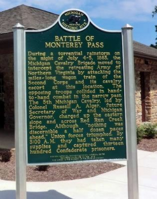 Battle of Monterey Pass Marker image. Click for full size.