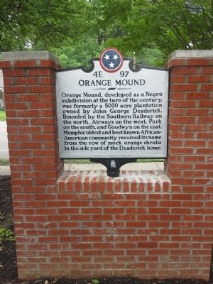 Orange Mound Marker image. Click for full size.