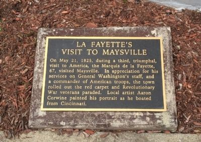 La Fayette's Visit to Maysville Marker image. Click for full size.