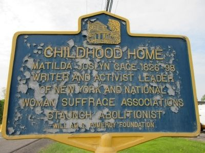Childhood Home Marker image. Click for full size.