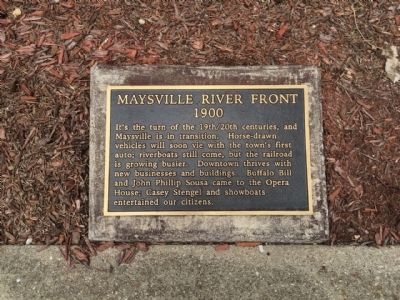 Maysville River Front 1900 Marker image. Click for full size.