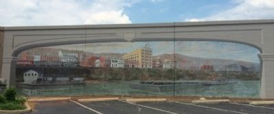 Maysville River Front 1900 Mural image. Click for full size.