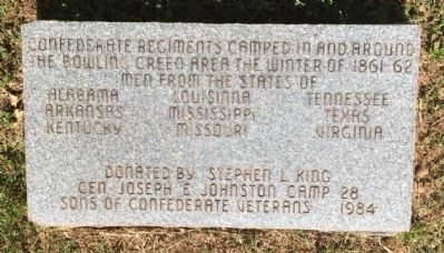 Confederate Regiments Camped here from different states. image. Click for full size.