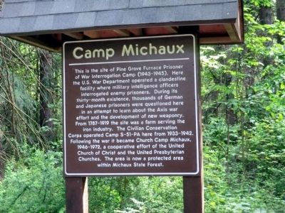 Camp Michaux Marker image. Click for full size.