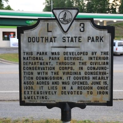 Douthat State Park Marker image. Click for full size.