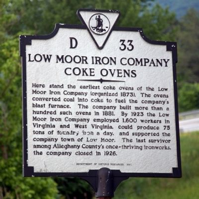 Low Moor Iron Company Coke Ovens Marker image. Click for full size.
