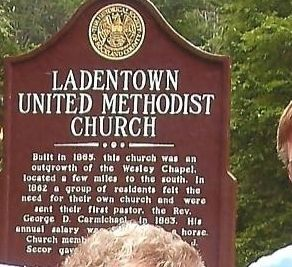 Ladentown United Methodist Church Marker image. Click for full size.