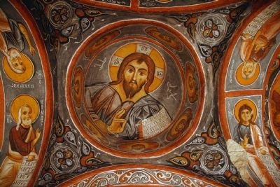 Fresco in one of the G�reme Churches image. Click for full size.