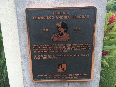 Francisco Andr�s Escobar Building Marker image. Click for full size.