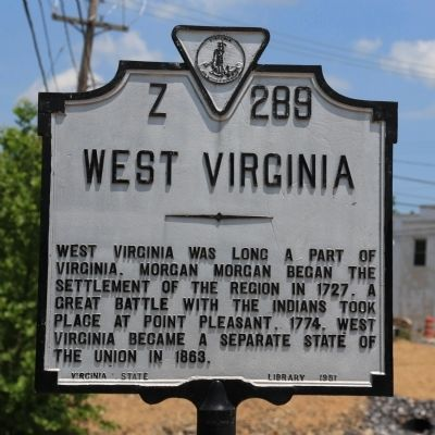 West Virginia Face of Marker image. Click for full size.