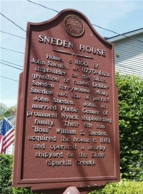 Sneden House Marker image. Click for full size.