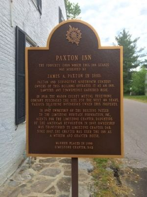 Paxton Inn Marker image. Click for full size.