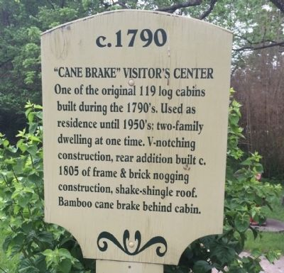 """Cane Brake"" Visitor's Center Marker image. Click for full size."