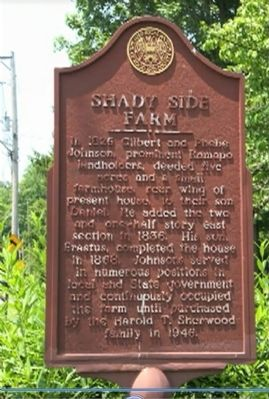 Shady Side Farm Marker image. Click for full size.