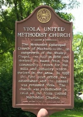 Viola United Methodist Church Marker image. Click for full size.