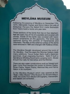 Mevlâna Museum Marker image. Click for full size.