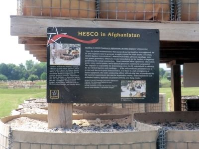 HESCO in Afghanistan Marker image. Click for full size.