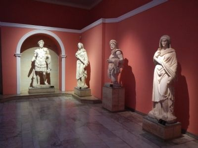 Statues recovered from Perge at the Antalya Museum image. Click for full size.