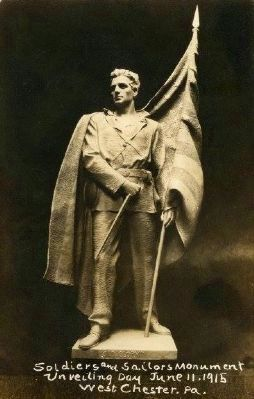 As the statue looked when first unveiled in 1915 image. Click for full size.