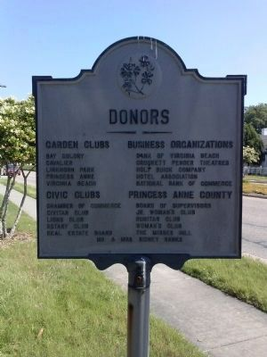 Donors' names on reverse side of marker image. Click for full size.