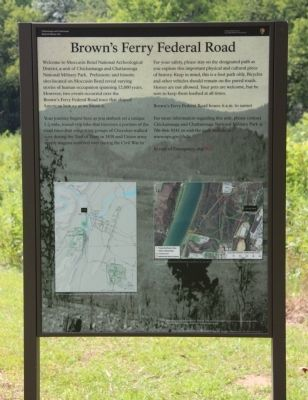 Brown's Ferry Federal Road Marker image. Click for full size.