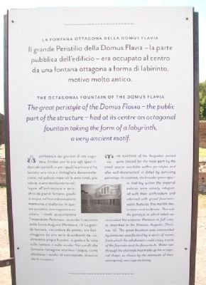 The Octagonal Fountain of the Domus Flavia Marker image. Click for full size.