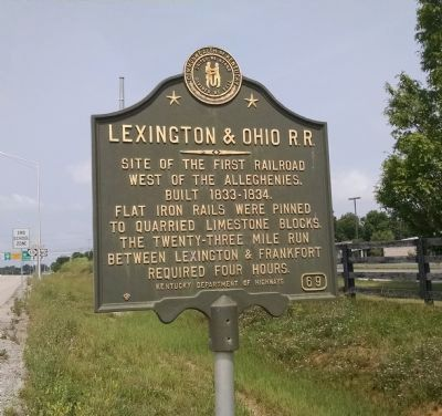 Lexington and Ohio Railroad Marker image. Click for full size.