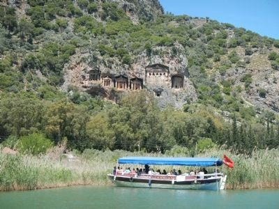 Persian tombs from the Dalyan River image. Click for full size.