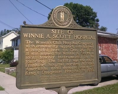 Site of Winnie A. Scott Hospital Marker image. Click for full size.