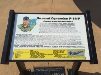 General Dynamics F-111F Marker image. Click for full size.