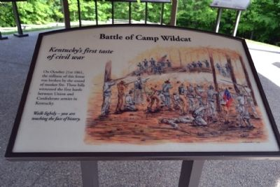 Marker #1 - Battle of Camp Wildcat image. Click for full size.