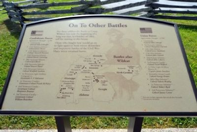 Marker #10 - On To Other Battles image. Click for full size.
