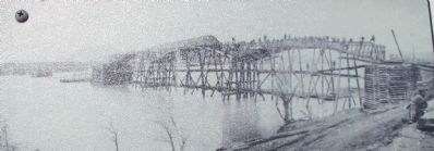 1864 Military Bridge Marker image. Click for full size.