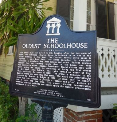 The Oldest Schoolhouse Marker image. Click for full size.