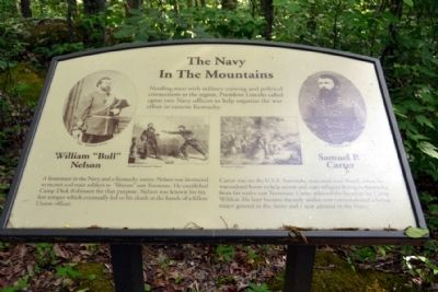 Marker #1 - The Navy In The Mountains image. Click for full size.