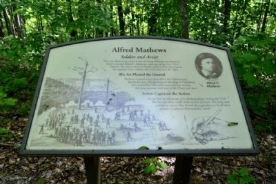 Marker #3 - Alfred Mathews image. Click for full size.
